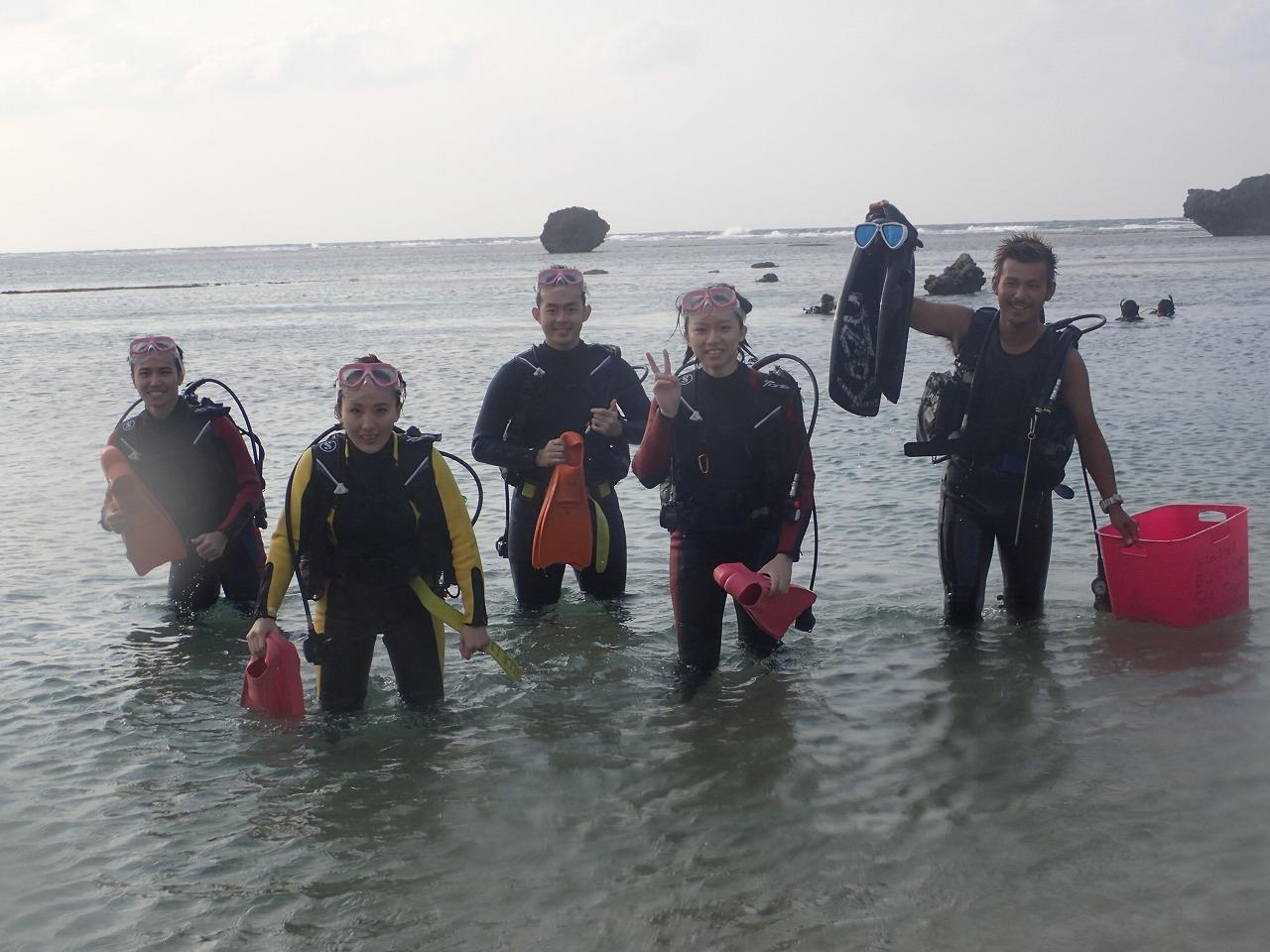 2014.10.27.4位鯨鯊體驗潛水&熱帶魚體驗潛水