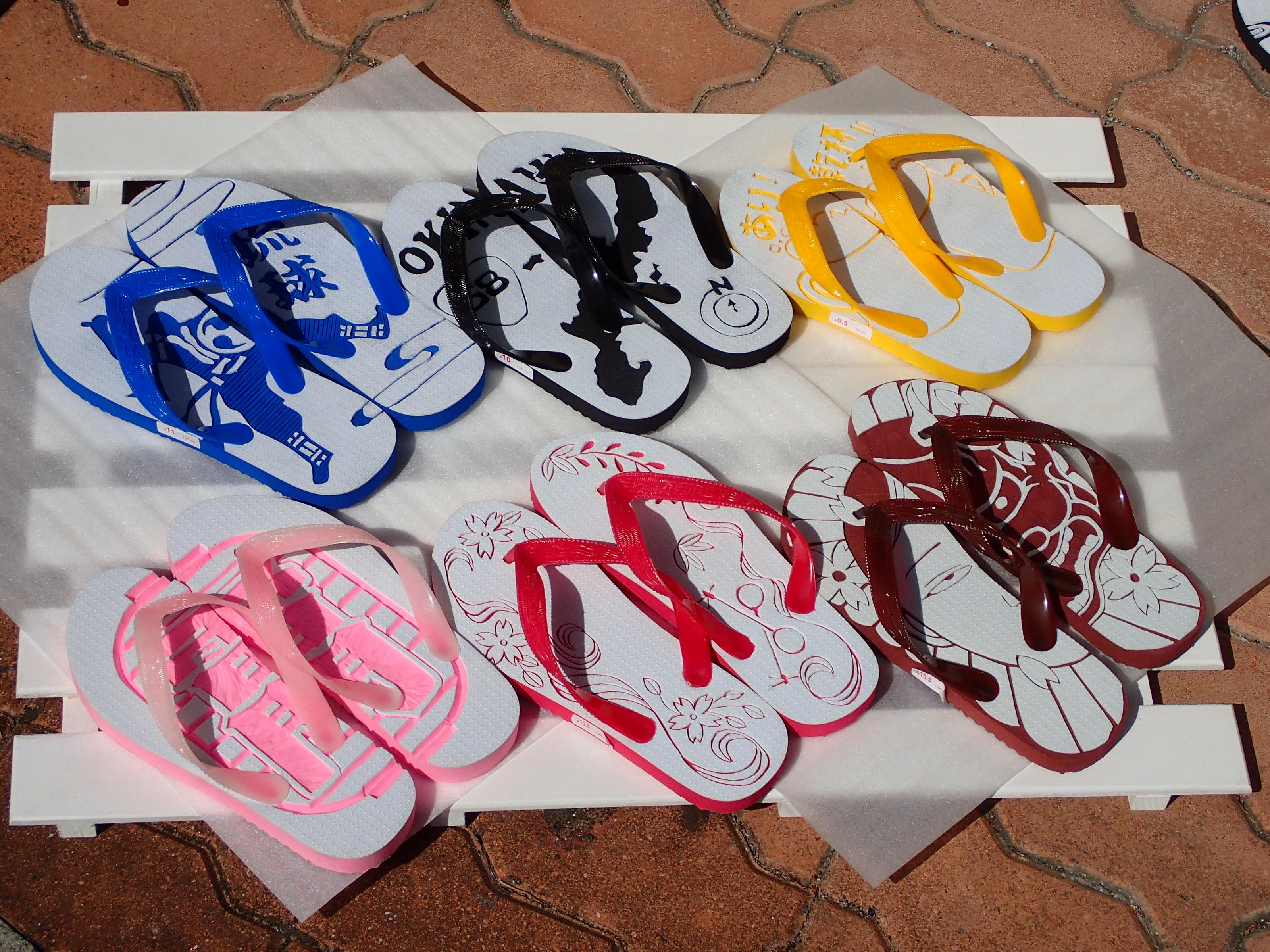 熱帶魚&沖繩特色拖鞋