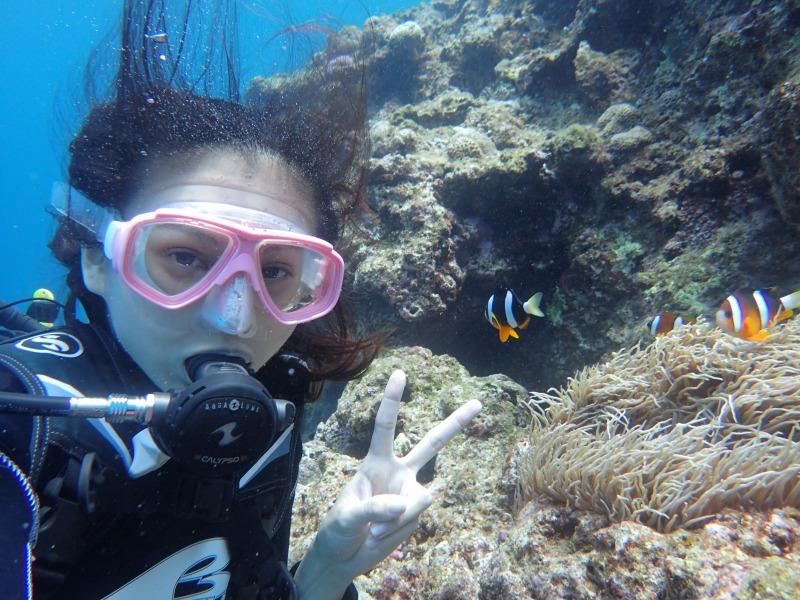 青洞體驗潛水之台灣美人