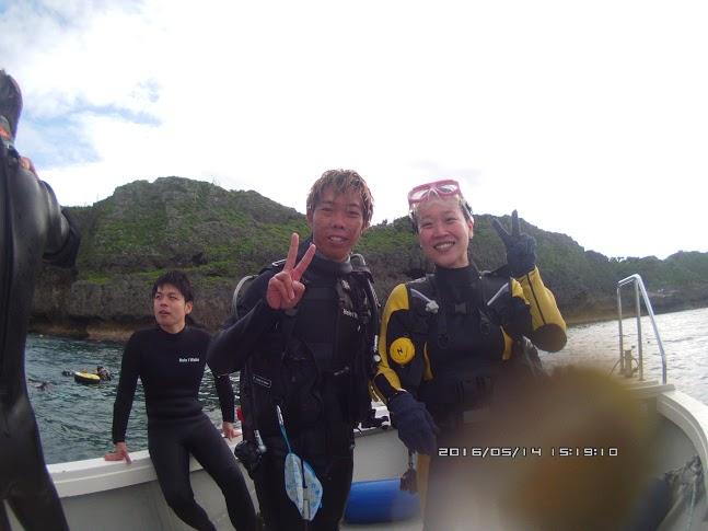 2016年5月14日 鯨鯊&青之洞窟套餐線路體驗潛水